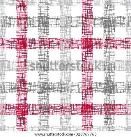 Plaid pattern seamless - stock vector