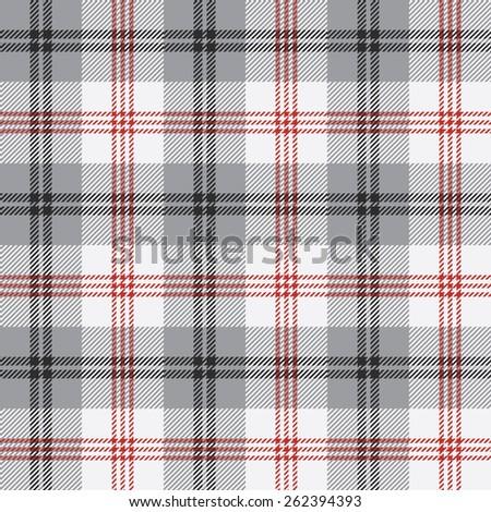 Plaid seamless pattern - stock vector