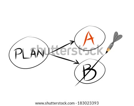 Plan A and plan B - stock vector