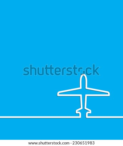 plane abstract background template vector - stock vector