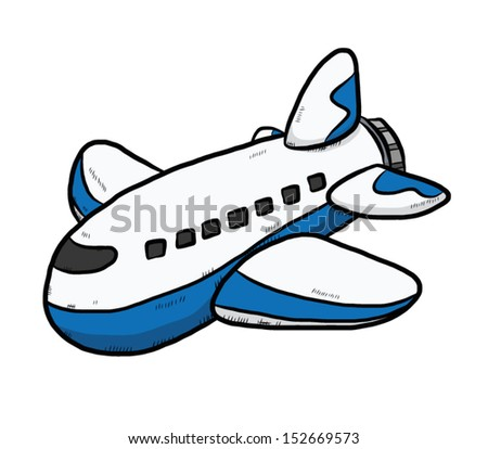 plane / cartoon vector and illustration, isolated on white background. - stock vector