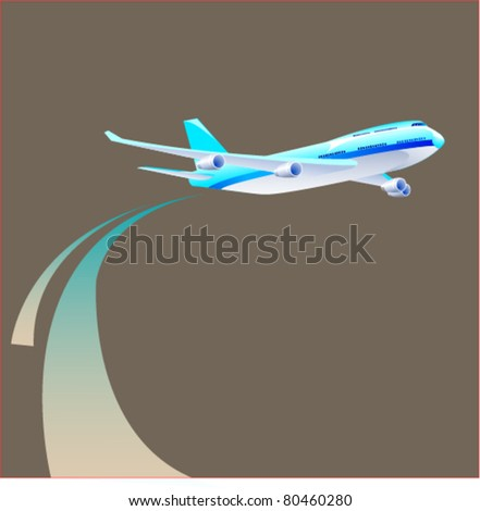 plane fly - stock vector
