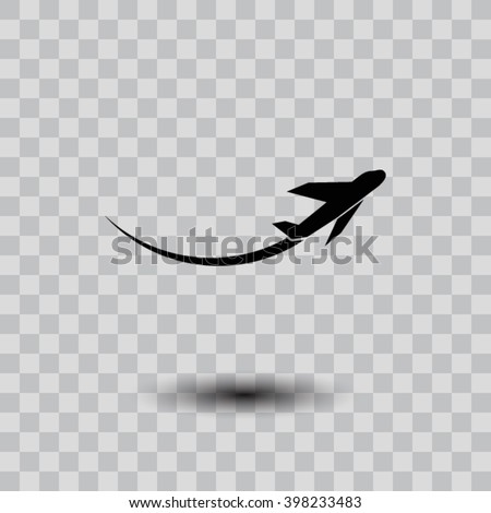plane icon. One of set web icons - stock vector