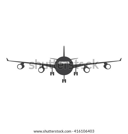 Plane Icon Vector Illustration on the white background. - stock vector