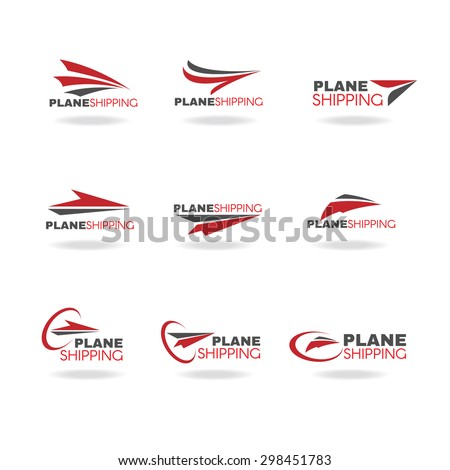 Plane Transportation shipping and delivery logo business vector - stock vector