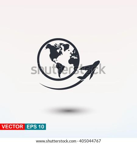 Plane travel icon, Plane travel icon eps, Plane travel icon art, Plane travel icon jpg, Plane travel icon web, Plane travel icon ai, Plane travel icon app, Plane travel icon flat, Plane travel icon - stock vector