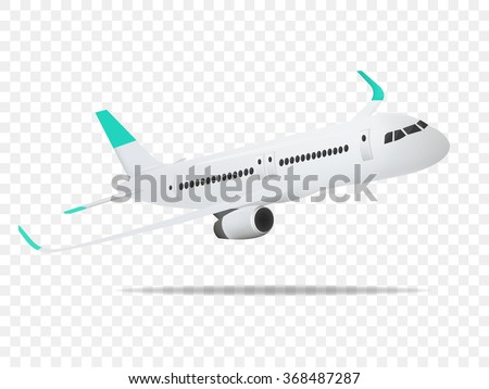 Plane vector,Plane on the transparent background,concept of plane,vector illustration. - stock vector
