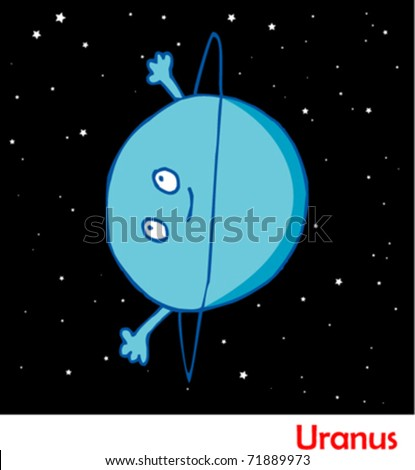 Planets in the Solar System Uranus - stock vector