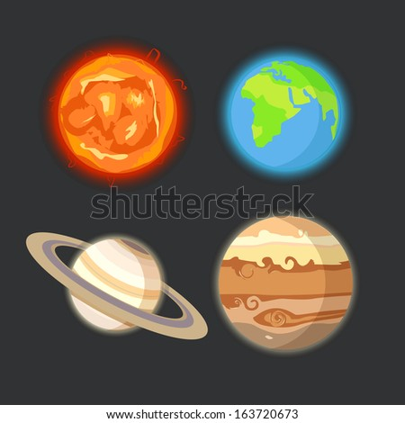 Planets of solar system - stock vector