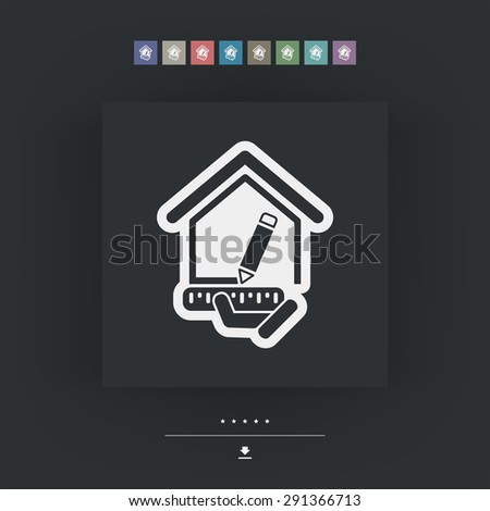 Planing house - stock vector