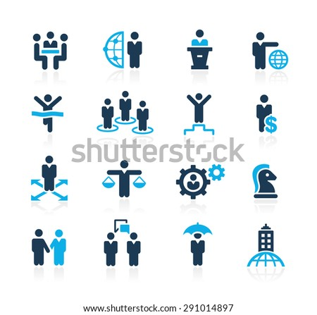 Planing Success and Business Strategies // Azure Series - stock vector