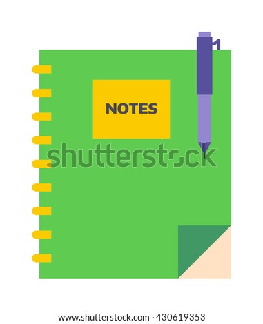 Planners notebook organizer diary paper note page business vector. Planners notebook organizer diary paper page and business planners notebook. Planners notebook office empty pad school education. - stock vector