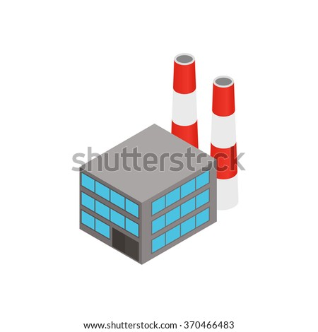 Plant isometric 3d icon isolated on a white background - stock vector