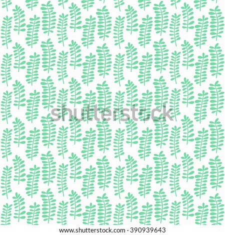 Plant seamless pattern. Plant decoration. Plant background.Vector illustration.  - stock vector