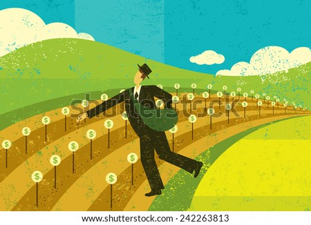 Planting the Seeds of Growth - stock vector