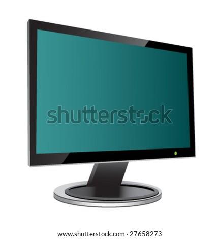 Plasma LCD TV display. Vector. - stock vector