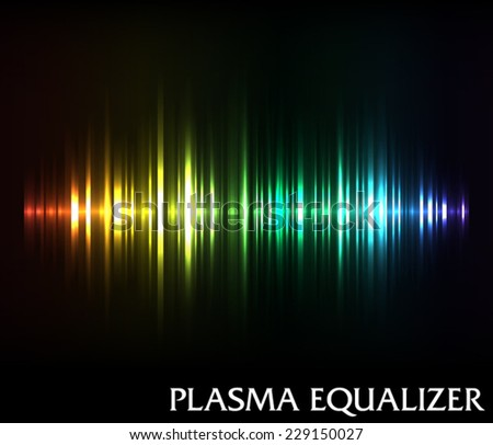 Plasma music equalizer - stock vector