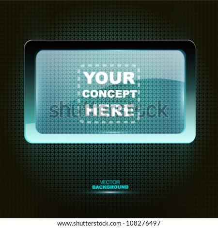 Plasma shelf to place your slogan. Vector design - stock vector