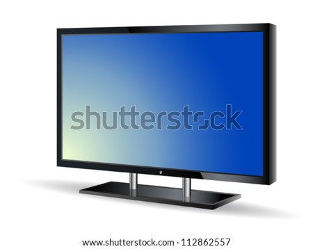 Plasma TV set - stock vector