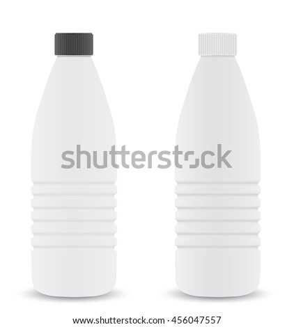 Plastic bottle closed. - stock vector