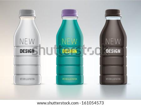 plastic bottle for new design - stock vector