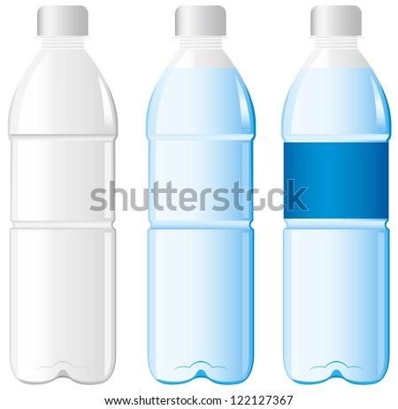 Plastic bottle of water Vector - stock vector