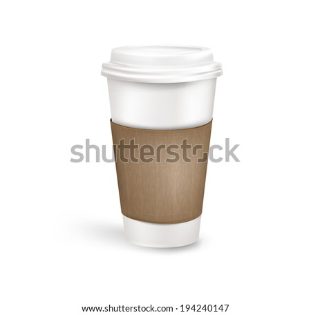 Plastic coffee cup. Vector eps 10 - stock vector