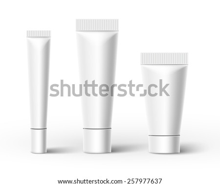 Plastic tubes isolated on white background. Vector illustration - stock vector