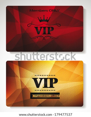 plastic Vip cards with the abstract background - stock vector