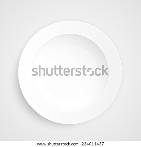 Plate on a white background. Vector illustration - stock vector