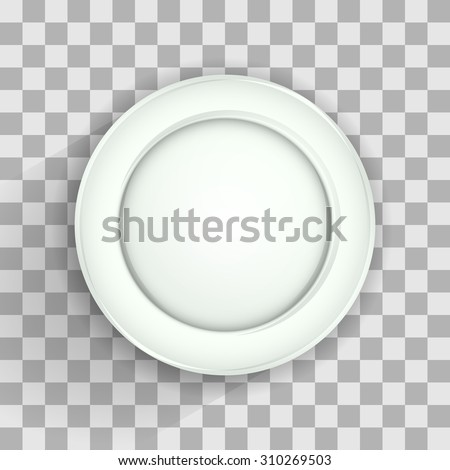 Plate on transparent - stock vector