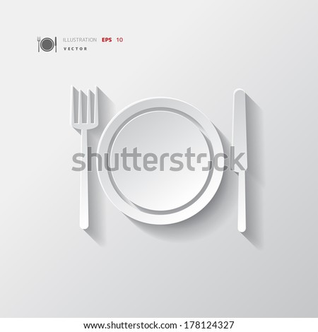 Plate web icon - stock vector
