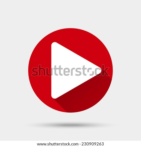 Play button icon. Vector illustration - stock vector