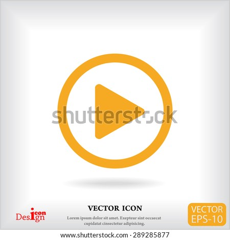 play button vector icon - stock vector