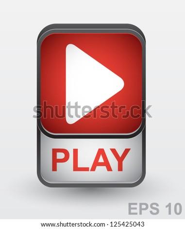 Play button. Vector illustration - stock vector