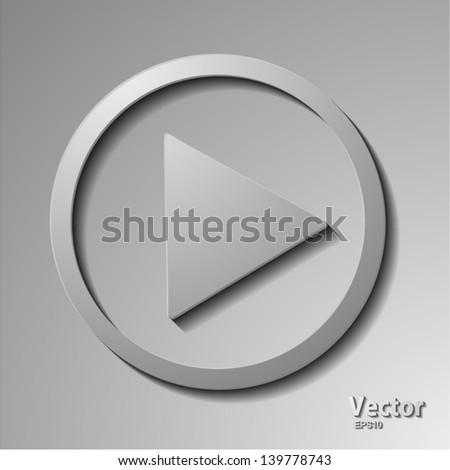 play icon - stock vector