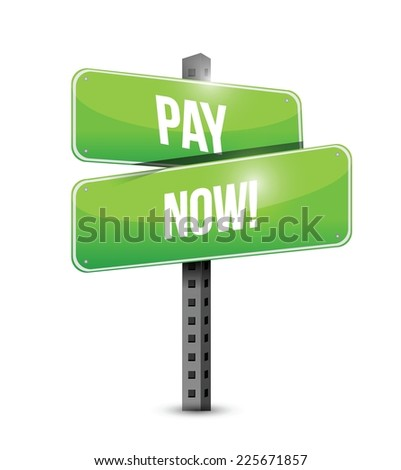 play now sign illustration design over a white background - stock vector