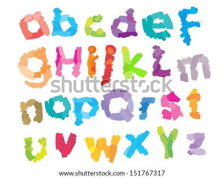 Playful Kid Font II - stock vector