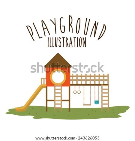 Playground design over white background, vector illustration. - stock vector