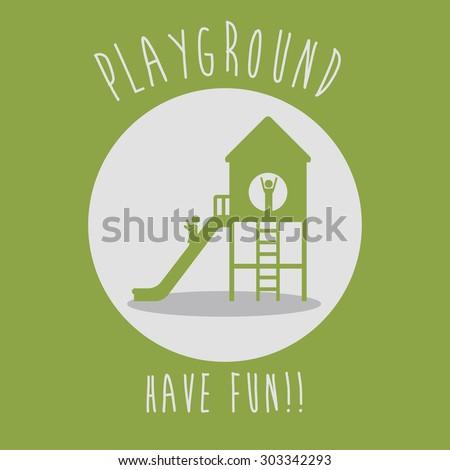 Playground digital design, vector illustration eps 10  - stock vector