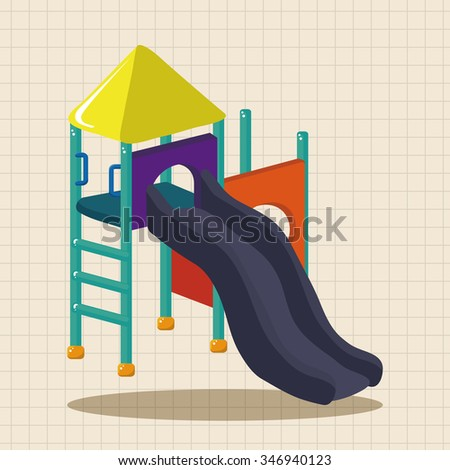 playground slide theme elements - stock vector