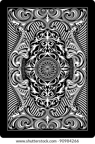 playing card back side - stock vector