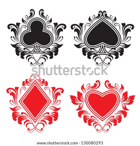 Playing Card Ornament - stock vector