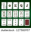 Playing cards Set. Spades. Vector illustration - stock vector