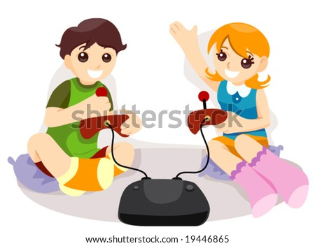 Playing - Vector - stock vector