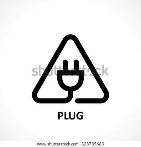 plug icon. vector eps8 - stock vector