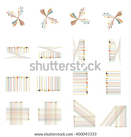 Plug Wire Cable Computer colorful  icon set  vector illustration - stock vector