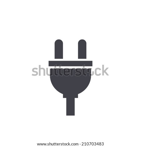 plugs icon,vector illustration - stock vector