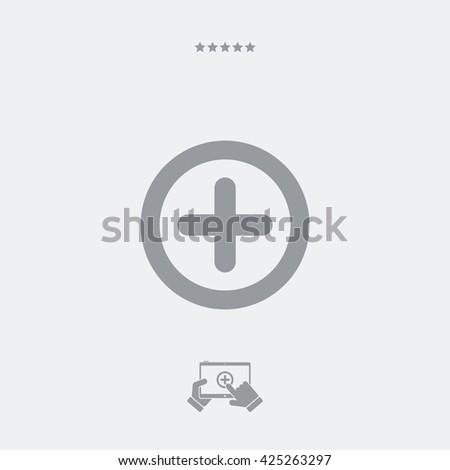 Plus concept flat icon - stock vector