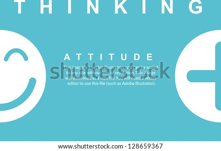 Plus Emotion Icon Attitude Thinking,Vector - stock vector